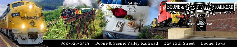 Boone & Scenic Valley Railroad Dinner Train